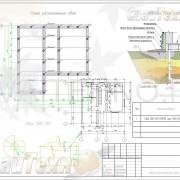 Схема расположения свай для строительства загородного дома из пенобетона