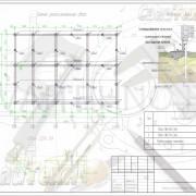 Схема расположения свай для строительства жилого дома из СИП панелей