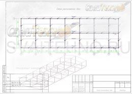 Схема расположения свай для строительства столовой из сэндвич панелей