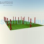 Фундамент 6 на 10 (шаг свай 3-2,5 м.)