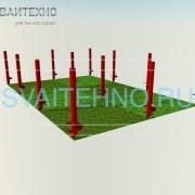 Фундамент 6 на 4 шаг свай 2 метра