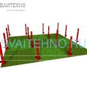 Фундамент 6 на 6, шаг свай 2 метра