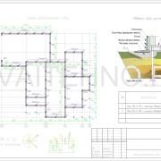 Схема расположения свай для фундамента несущих стен одноэтажного гаража из пеноблока