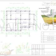 Схема расположения свай для фундамента двухэтажного дома из блока