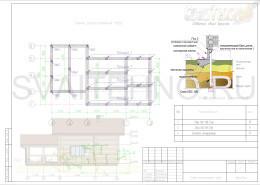 Схема размещения свай для фундамента бани с террасой и мансардой