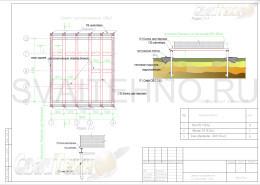 Схема размещения свай для реконструкции старого фундамента дома из бруса
