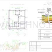 Схема размещения свай для свайного фундамента бани 7000х6000мм