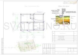 Схеме размещения свай для фундамента летней кухни возле воды