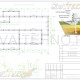 Схема расположения свай для фундамента двухэтажного дома 17800х23300мм