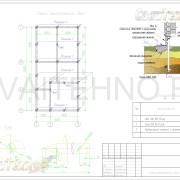 Схема расположения свай для фундамента двухэтажного дома каркасного типа