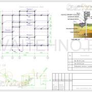 Схема расположения свай для фундамента дома из оцилиндрованного бревна