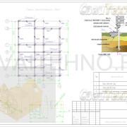 Схема расположения свай для фундамента двухэтажного дома из оцилиндрованного бревна