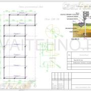 Схема расположения свай для строительства одноэтажного дома каркасного типа