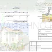 Схема расположения свай для строительства двухэтажного дома из СИП панелей