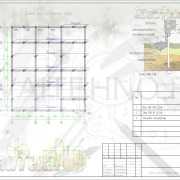 Схема расположения свай для строительства дома клееного бруса 200х185мм