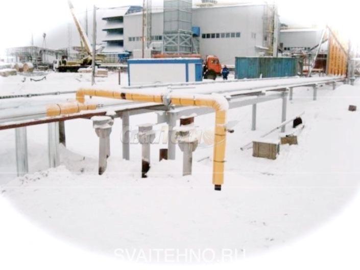 Фундамент нефтегазовых труб