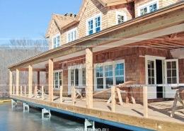 Строительство фундамента для дома на воде