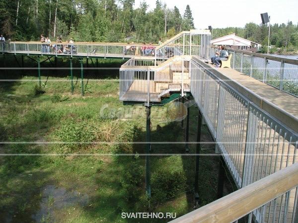 Мосты, смотровые площадки на винтовых сваях