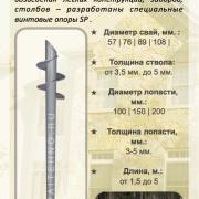 Цена на винтовые сваи SP-EVRO1