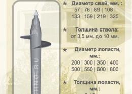 Купить винтовые сваи СВС-П