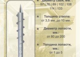Цена на винтовые сваи (опоры) серии N - с болтами