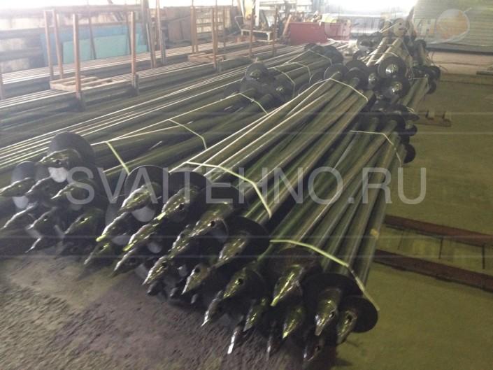 Подготовка к горячему цинкованию винтовых свай СВС-П