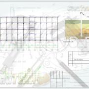 Схема расположения свай для строительства мобильных зданий