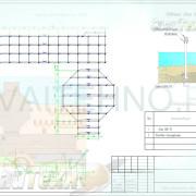 Схема расположения свай для для обустройства пляжной зоны