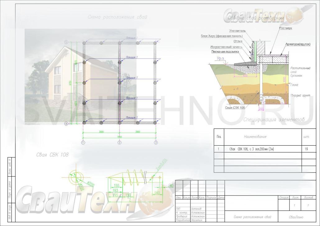 Винтовых сваях для строительства дома