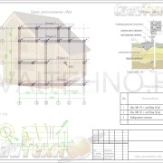 Схема расположения свай для строительства дома из профилированного бруса