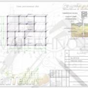 Схема расположения свай для строительства жилого дома каркасного типа