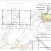 Схема расположения свай для строительства бани из оцилиндрованного бревна