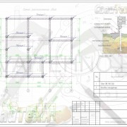 Схема расположения свай для строительства жилого дома с мансардным этажом