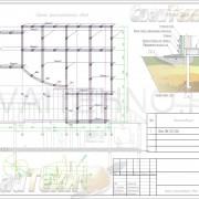 Схема расположения свай для строительства жилого одноэтажного дома