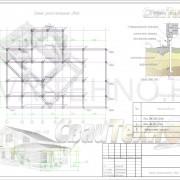 Схема расположения свай для строительства двухэтажного жилого дома
