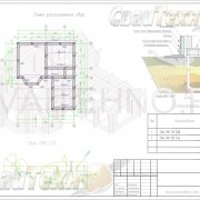 Схема расположения свай для строительства двухэтажного дома из оцилиндрованного бревна