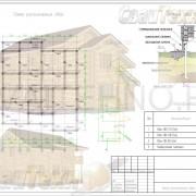 Схема расположения свай для строительства жилого дома из оцилиндрованного бревна
